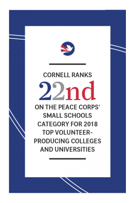 Peace Corps: Cornell ranks 22nd