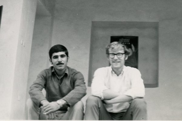 Stephen Grummon '69 (in white shirt at right) taught English as a second language in Iran. He went on to serve on the National Security Council.