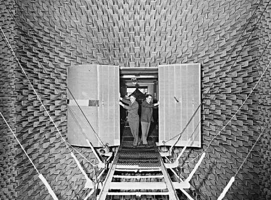 An echo-free test chamber invented by acoustician Leo Beranek '36 will be inducted into the National Association of Music Merchants TECnology Hall of Fame.