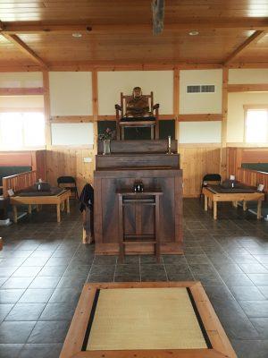 Meditation Hall used to practice Zazen