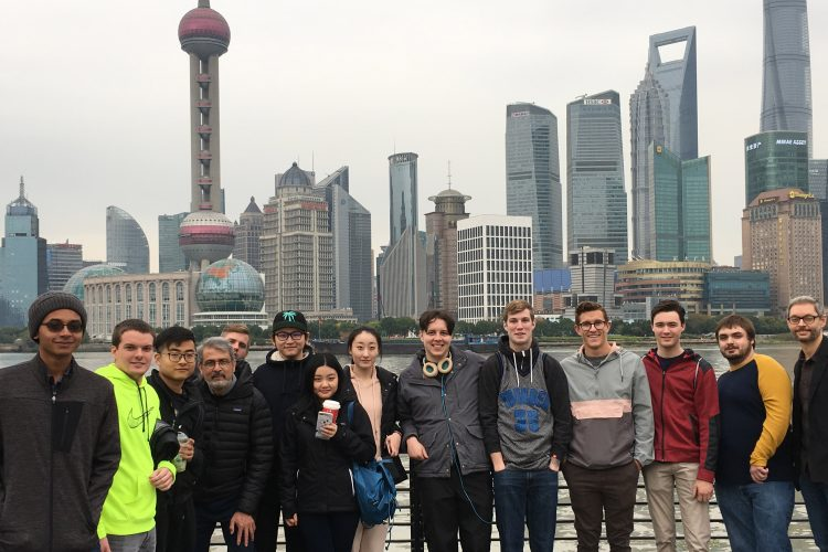 Professor Knoop (far right) and class in China.