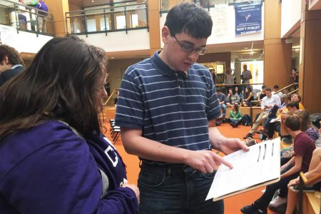 Students are helping other students register to vote on the OC.