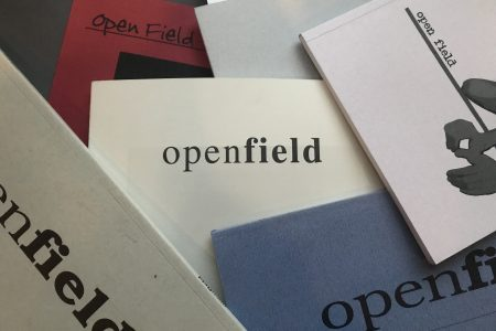 Covers of past publications of Open Field