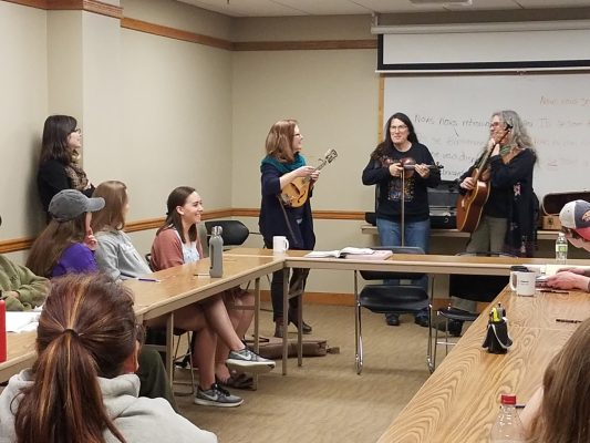 The Malvinas surprised Elizabeth Carroll's French 102 class with a performance