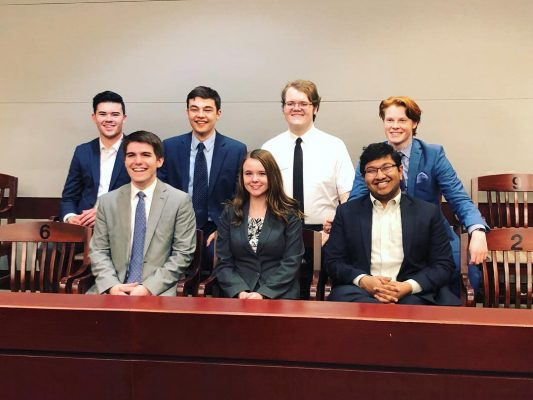 Photo of the Cornell College Mock Trial Team
