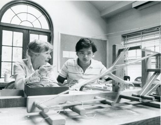 Vivian Heywood and student
