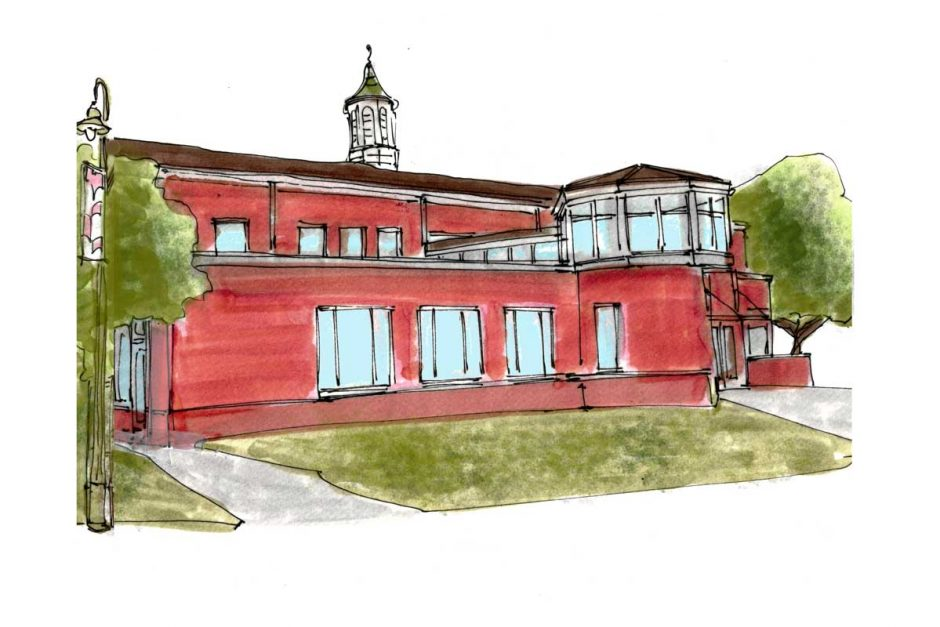 Cole Library illustration
