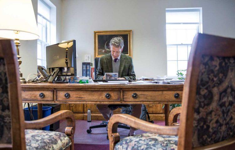 Jonathan Brand at his desk