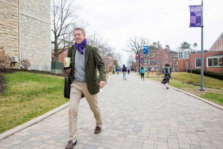 Jonathan Brand walks on the Ped Mall