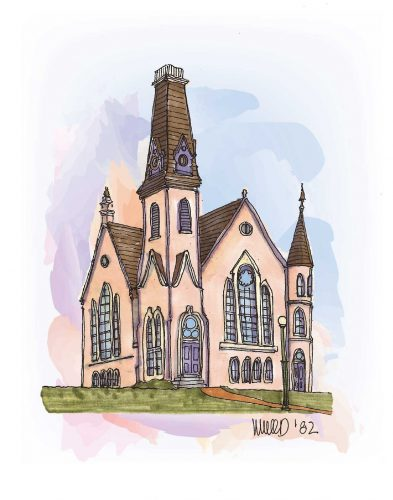 King Chapel illustration by Melissa Wood '82