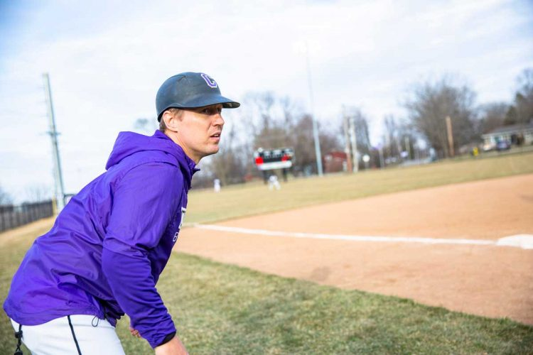 Seth Wing coaches base runners