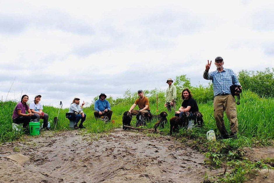Turtle researchers on field trip