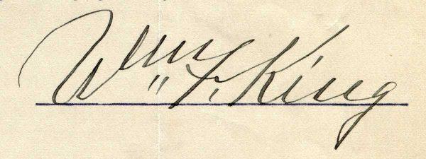 William Fletcher King signature