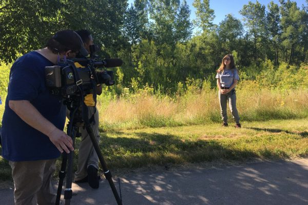 KCRG-TV9 produced a story featuring two of our summer research students discussing their work to understand the declining population of monarch butterflies.