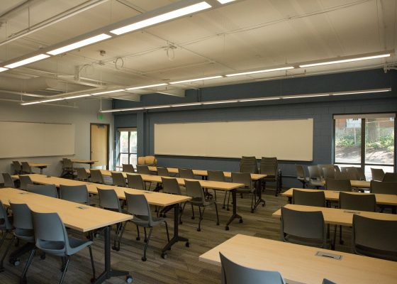 Students will get to use new classrooms inside the newly renovated West Science Hall