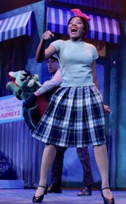"""Johnson during a performance of """"Little Shop of Horrors"""""""