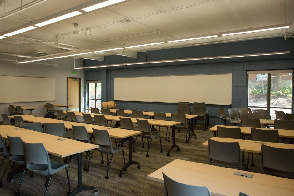 newly renovated classroom