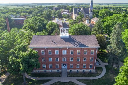 Aerial photo of Cornell College