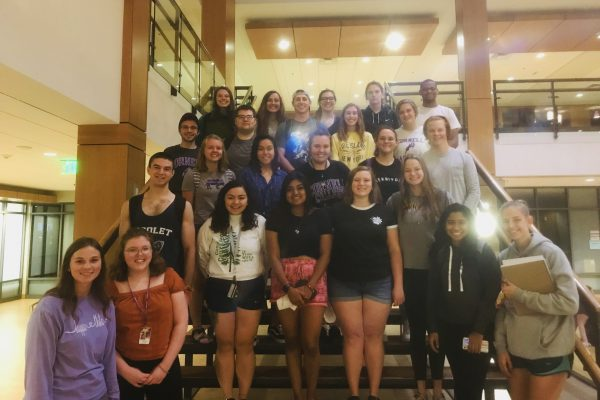 Group photos of all of the current campus tour guides for Cornell College