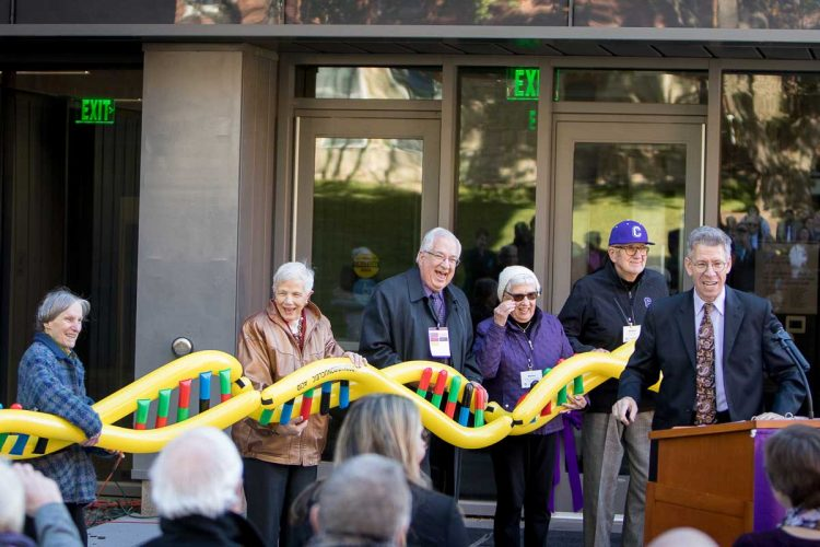 DNA splice ribbon cutting at Russell Science Center