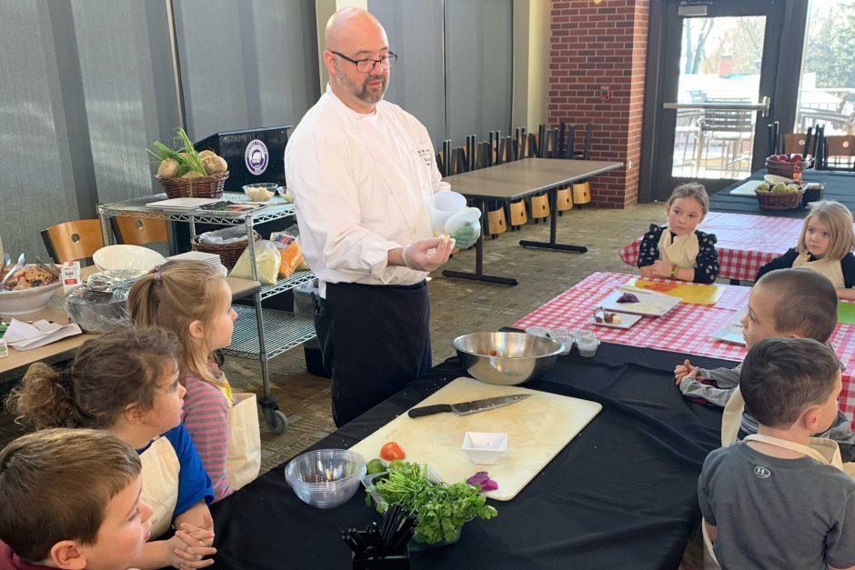 David Smigo teaches the kids
