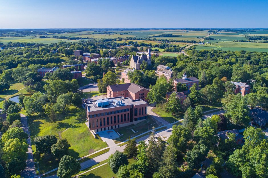 Aerial view of Cornell College