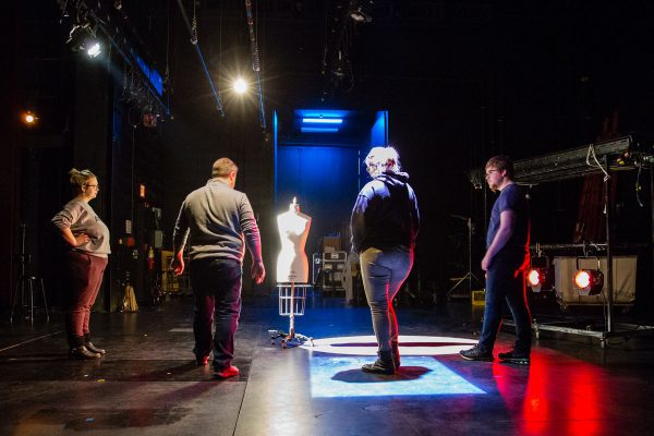 Professor of Theatre Scott Olinger, who has taught lighting design for 20 years, approaches theatre with a show, don't tell, philosophy.