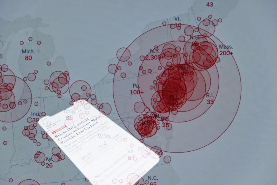 COVID map image