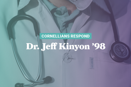 graphic with Dr. Jeff Kinyon '98's name on it