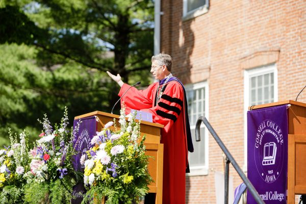 Cornell College is planning in-person Commencements on its football field for the Classes of 2020 and 2021. The college will adhere to COVID-19 protocols.