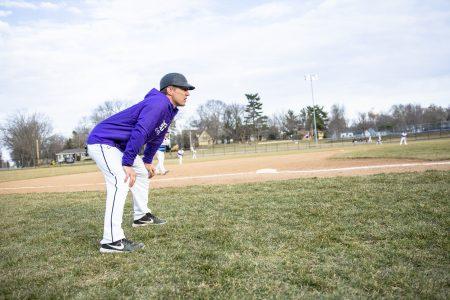Seth Wing on the baseball field