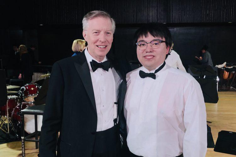 Xikun Wang '20 and Martin Hearne