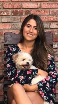Raquel Ruiz with her dog