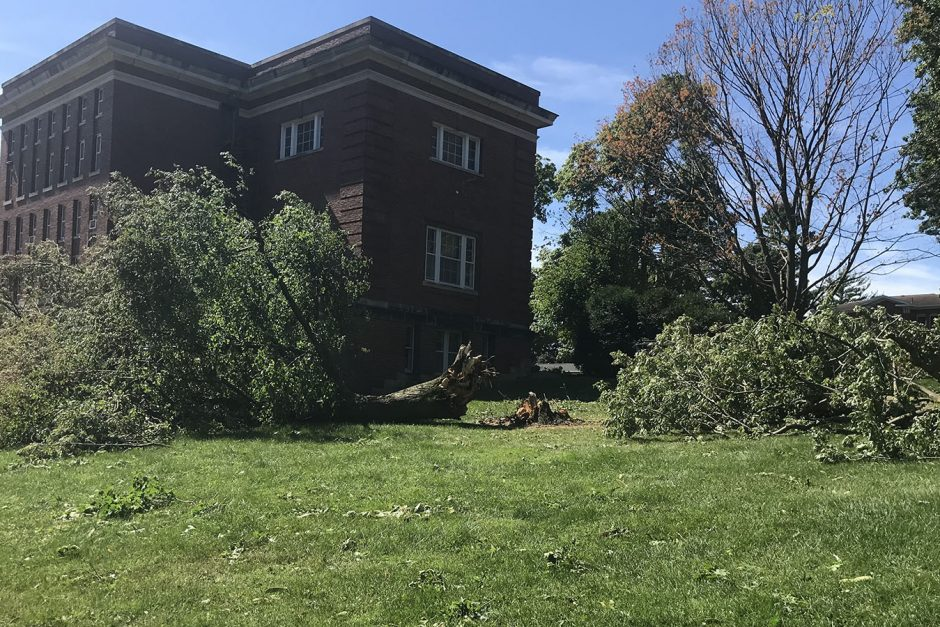 August 10 campus damage near Norton