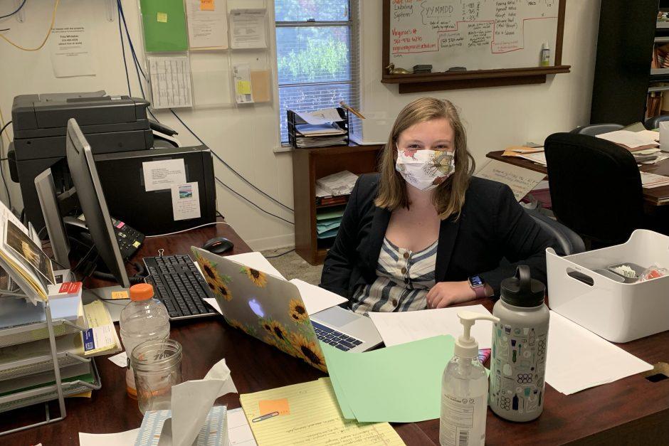 Brena Levy at her desk