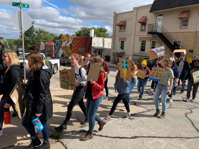 Cornell students held a climate strike, marching and chanting through campus and downtown Mount Vernon.