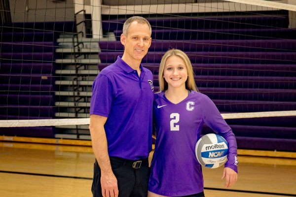 Senior Sydney Meeker says having her dad coach her volleyball team is, simply put, normal for her.