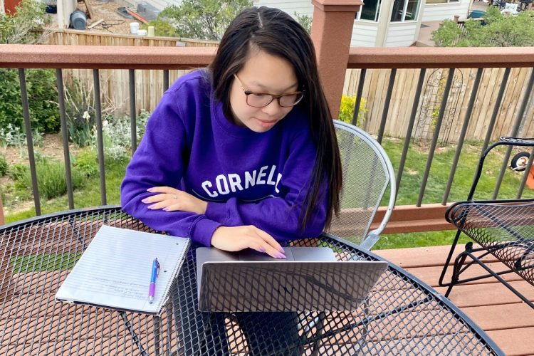 Junior Molly Nyberg took the Block 8 course The Science of COVID-19, from home in Castle Rock, Colorado.