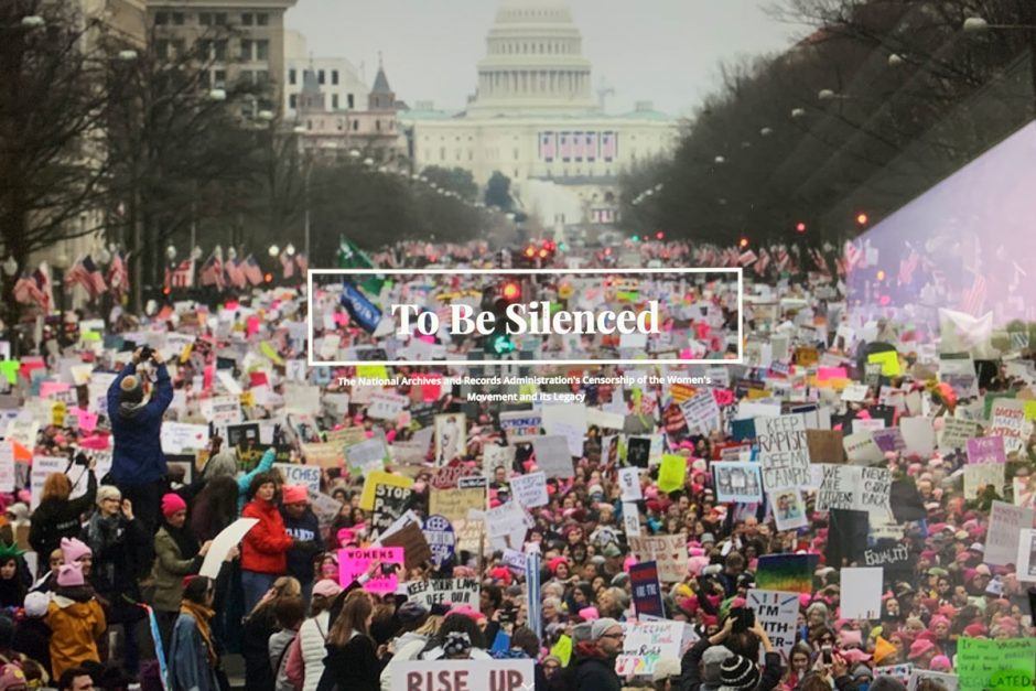 Fiona Dwyer, Elizabeth Byland, and David Navarro prepared an online exhibit on the National Archives controversy over the altered photograph of the Women's March that was featured in their exhibit on the women's suffrage movement.