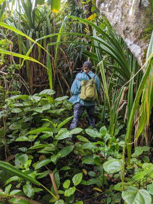 Erin in the rainforest