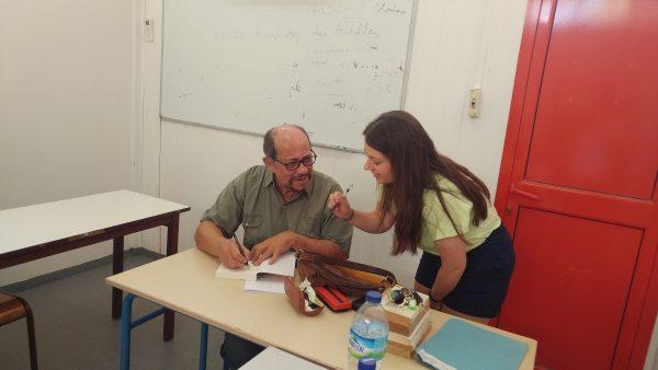 Ariel Barbee meeting the famous Raphaël Confiant.