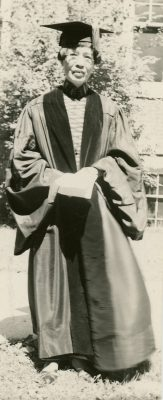 Cornell awarded an honorary doctorate to Ruby Sia, Class of 1910, while she was on a speaking tour of the United States in 1936.
