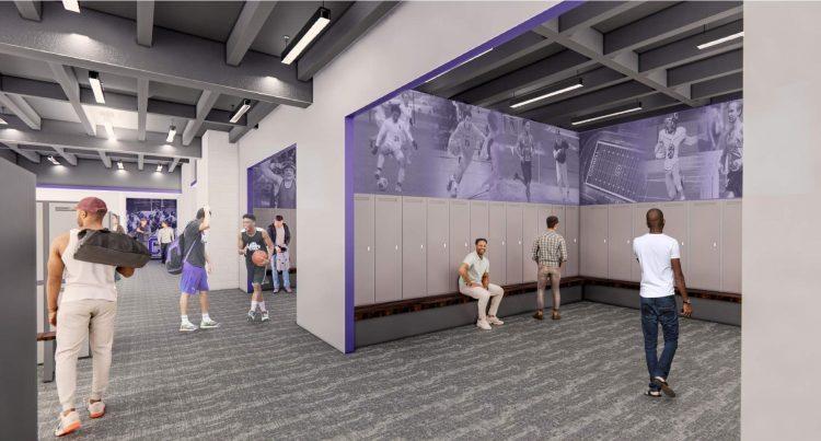 Rendering of a locker room