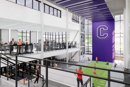 Rendering of a fitness center