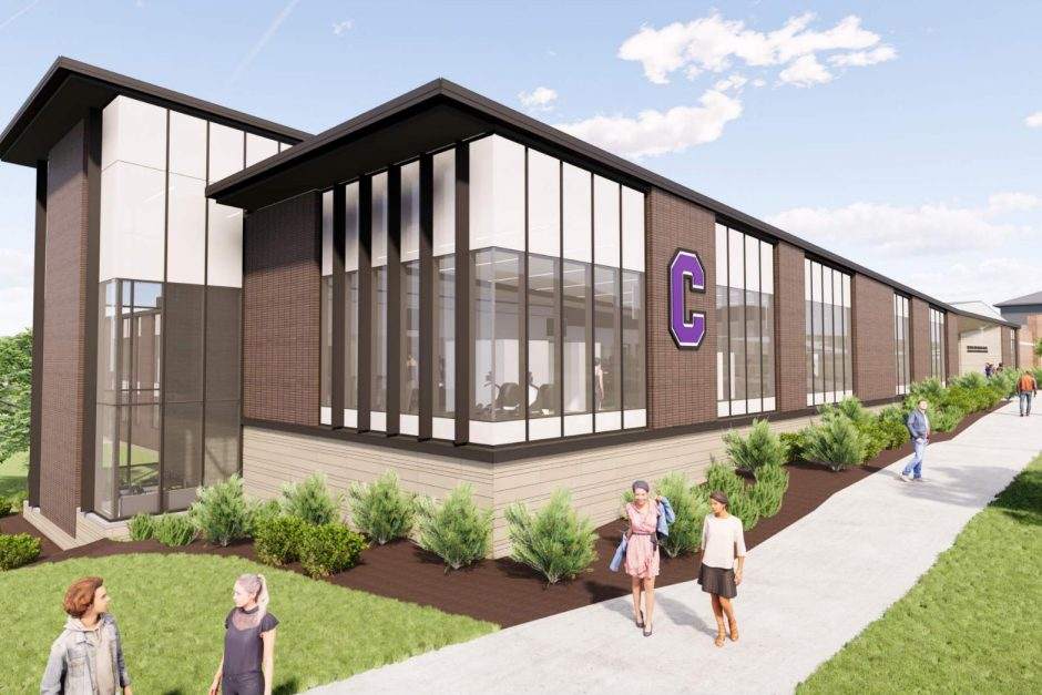 Rendering of the outside of the Sport Center
