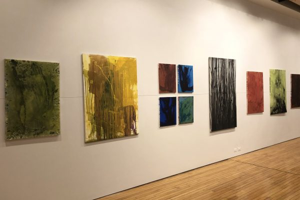 """Isaac Wolf's show, """"Acrylic Apparitions """""""