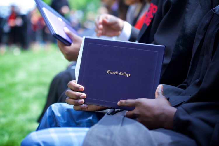 Commencement photo with diploma cover