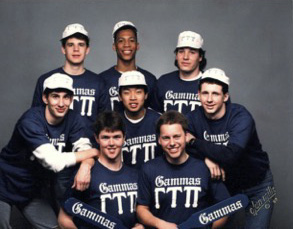 Gilliland (front right) with his fellow Gammas.