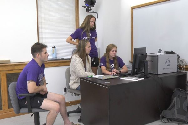 Cornell College students are exploring the relationship between an athlete's jump height and risk factors for ACL injuries during CSRI.