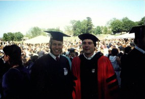 Gilliland with Professor of History Phil Lucas.